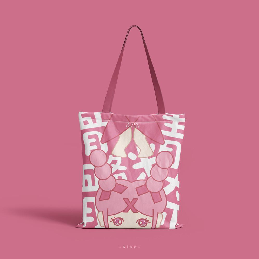 X-Shaped Leg Softee Tote Bag
