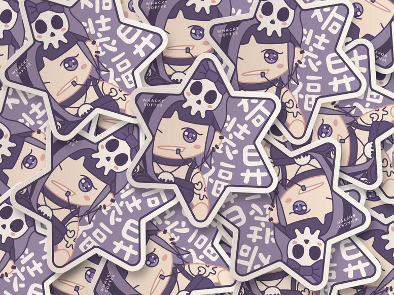 Whacky Softee Sticker