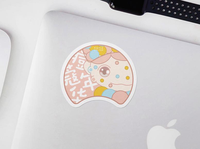 Pimple Softee Sticker