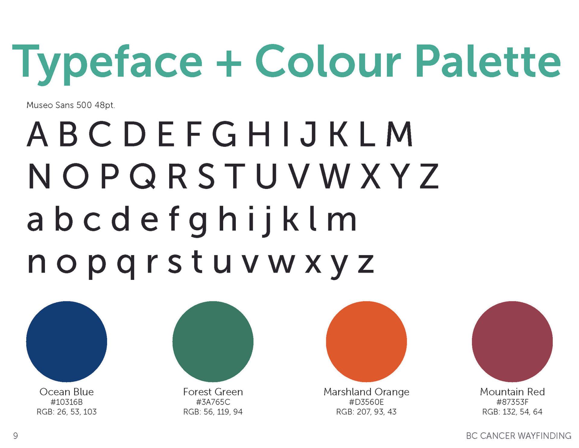 Colour Palette & Typeface
