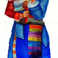 Tibetan Pastel Drawing