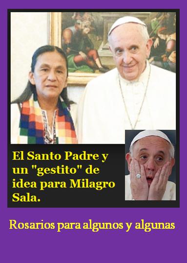 El Papa inclinado