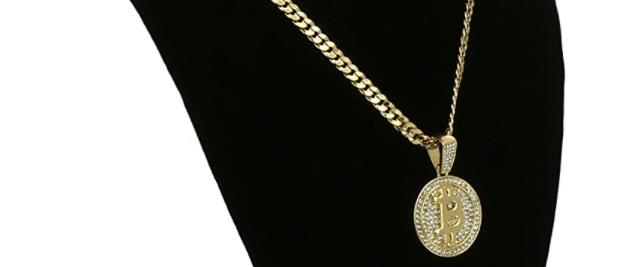 Shiny 14k Gold Plated Hip Hop Bitcoin