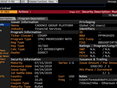 Securities are on Ethereum today and virtually nobody is talking about it