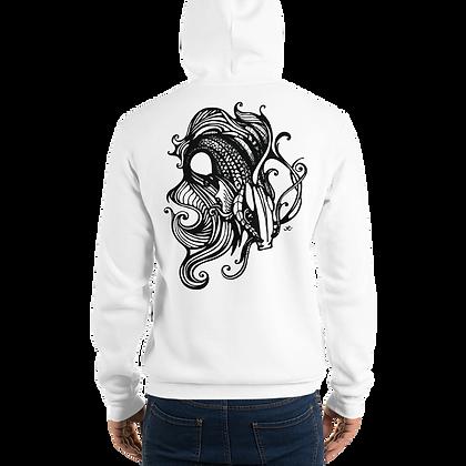 "Hand Drawn Illustration ""Fishy"" - Unisex hoodie - By Jessica Esper"