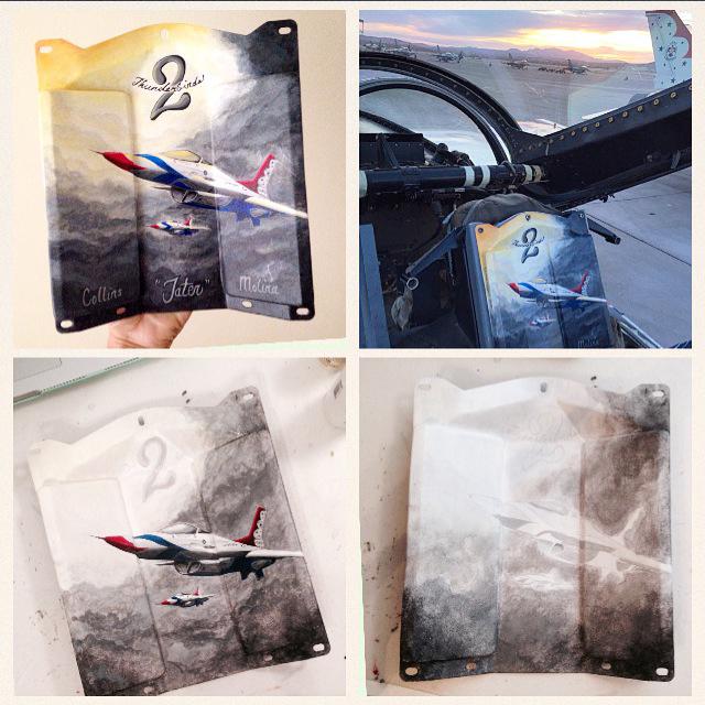 2015 USAF Thunderbird Custom Painted Headrests