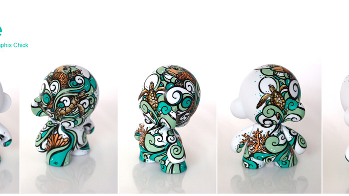 """The Graphix Chick's Munny """"Riptide"""" - Featured on Front Page of www.toydesignserved.com"""