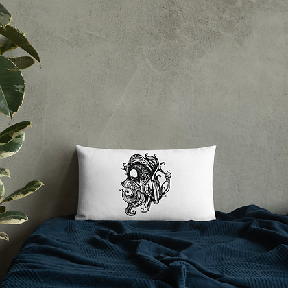"Hand Drawn Illustration ""Fishy"" - Premium Pillow - By Jessica Esper"