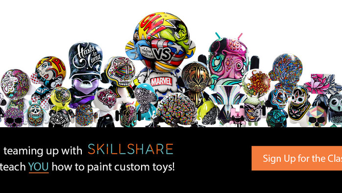 I'm Teaching a Skillshare Class on how to paint custom art toys!