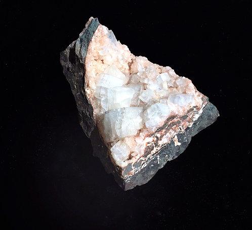 Apophyllite (White) with Pink Heulandite
