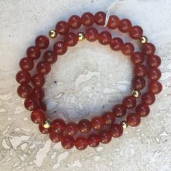 Carnelian Wrap Bracelet