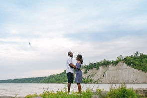 Scarborough Bluffers Park The Bluffs engagement shoot location