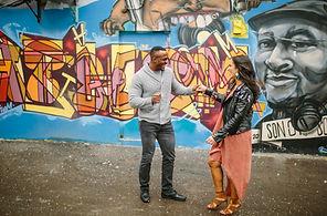 Graffitti Alley engagement shoot photos