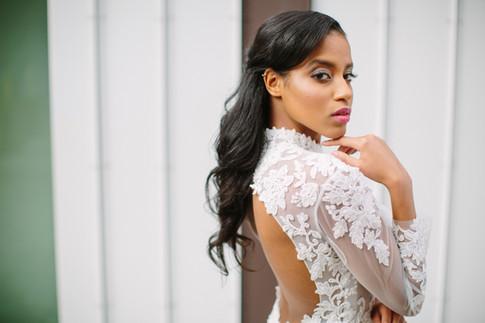 Creative Direction: Leigh Events // Model: Morgan Model Mgmt // Makeup & Hair: Jou Jou Hair Studio // Designer: Je Vis Bridal Fashion