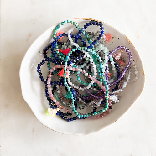 Gemstone tassel bracelet