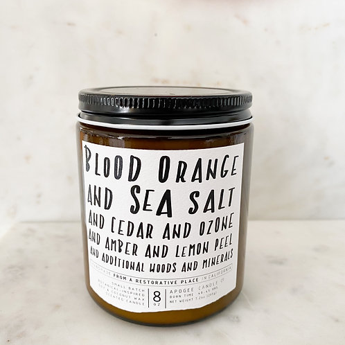 Blood orange and sea salt candle