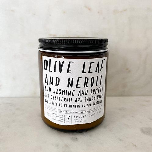 Olive leaf and neroli candle