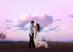 couple at pink sky