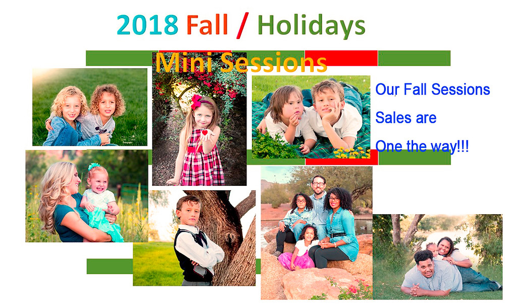 Fall Mini Sessions, family sessions will be on sales.