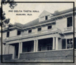 Vintage photograph of Phi Delta Theta Hall at Auburn University