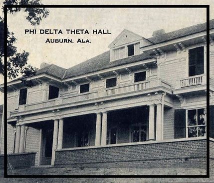 Vintage photograph of Phi Delta Theta Hall at Auburn University