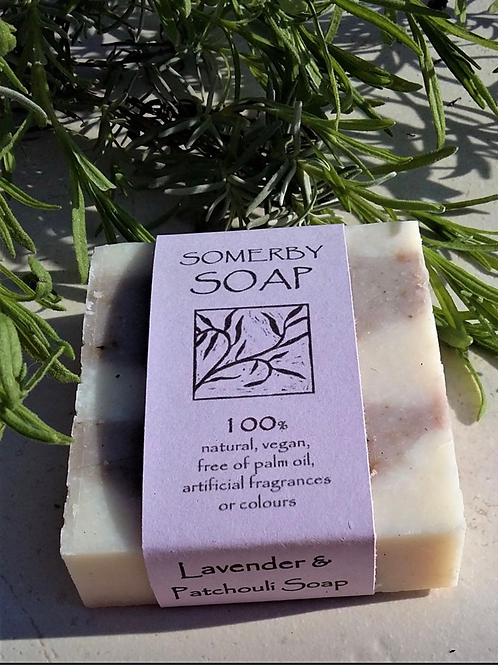 Lavender and Patchouli Somerby Soap 100g