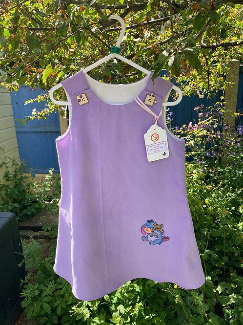 Handmade baby needlecord dress with Eeyore 4-5 years