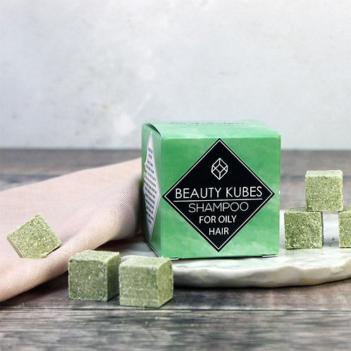 PLASTIC FREE SOLID SHAMPOO KUBES FOR OILY HAIR