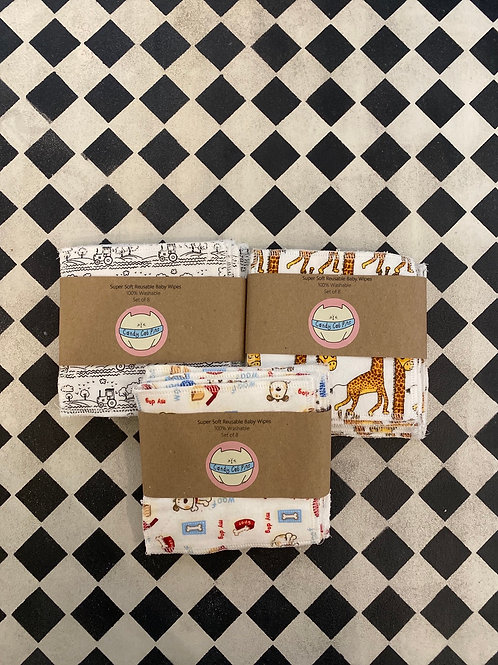 Super Soft Reusable Baby Wipes Cotton and Bamboo