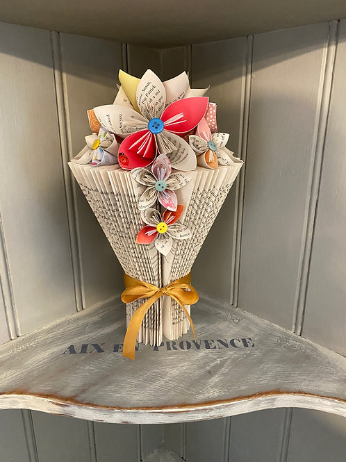 Beautiful Folded Book Vase