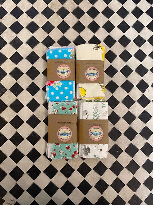 100% Cotton Washable Face Wipes