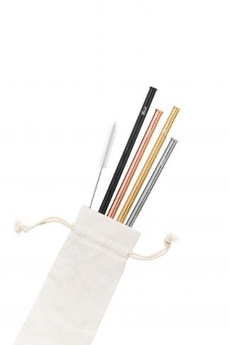 Cheeki 4 Pack Stainless Steel Straws