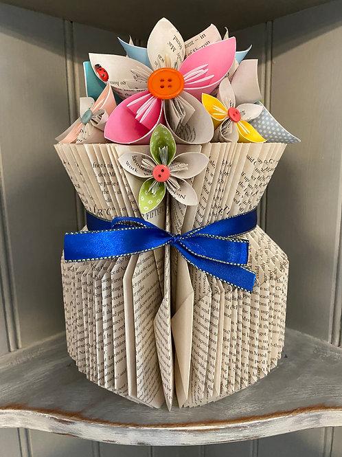 Beautiful Large Folded Book Vase