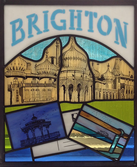 Brighton Dome stained glass artist Ruth Mullan in Sussex