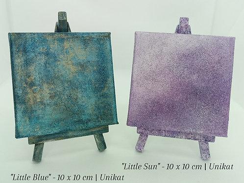 """Little Blue"" & ""Little Sun"" - 10 x 10 cm | Unikate"