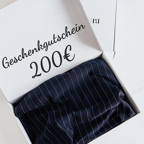 Geschenkgutschein - 200€ -