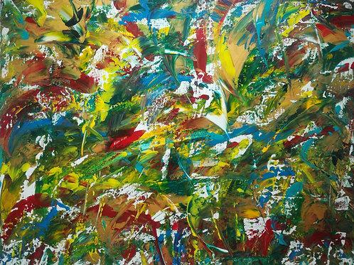 Jungle - 40 x 50 cm   Unikat