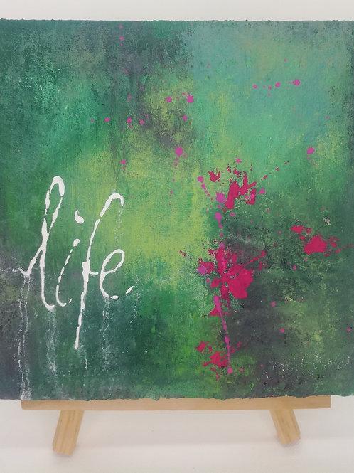 """Life"" - 20 x 20 cm | Unikat"