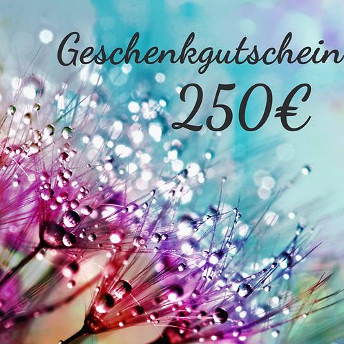 Geschenkgutschein - 250€ -
