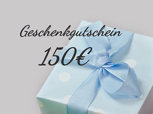 Geschenkgutschein - 150€ -