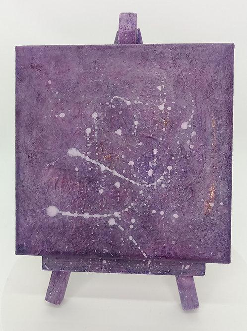"""Little Purple"" - 10 x 10 cm | Unikat"