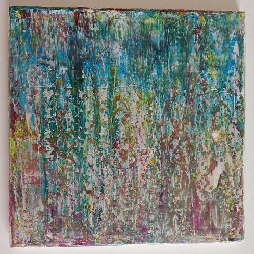 Blühend - 30 x 30 cm  Unikat