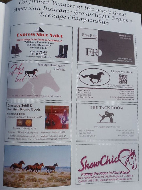 Show Program Ad - Business Card