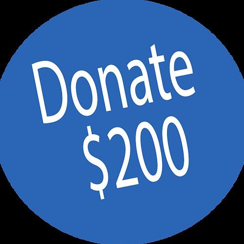 Donation-$200