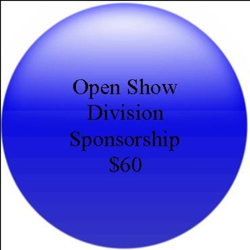 Class Sponsorship: Open Show Division