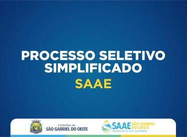 SAAE abre processo seletivo simplificado para Motorista em São Gabriel