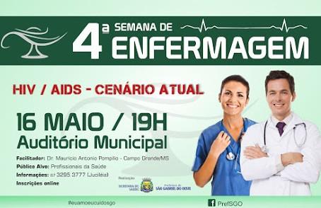 Evento reúne profissionais da enfermagem em São Gabriel do Oeste nesta quinta