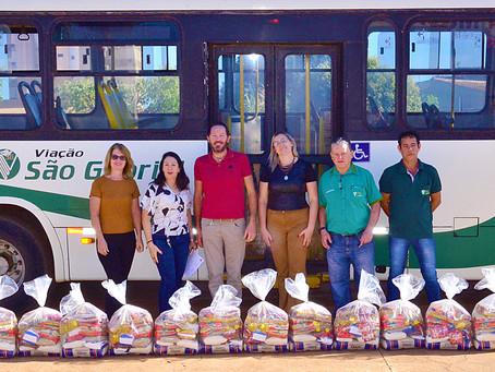 Caravelle de Reves, repassa cestas básicas arrecadadas em São Gabriel do Oeste