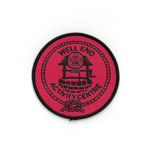 Well End Activity Centre Badge Red