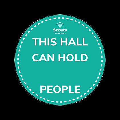 COVID Signage - Hall Capacity